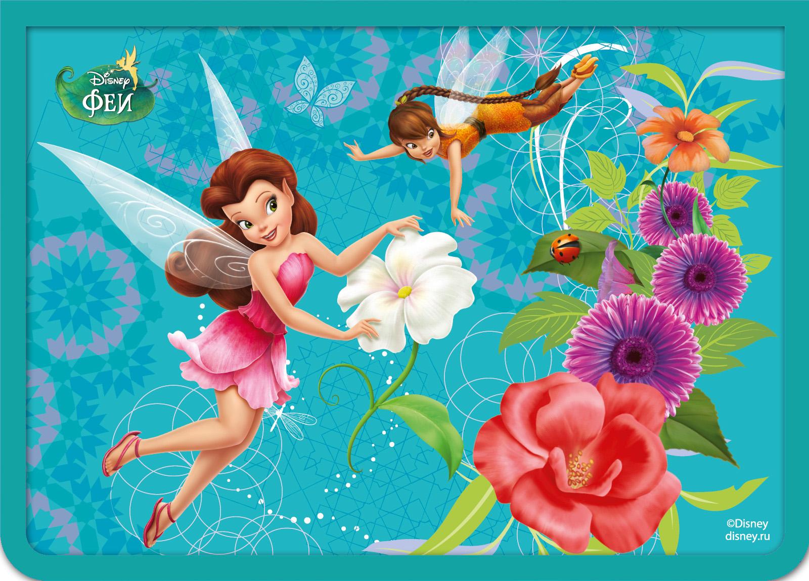 Папка для тетрадей на молнии Disney «Феи» А5Папки<br>Папка для тетрадей на молнии Disney «Феи» А5<br>