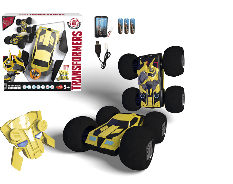 Машинка-перевертыш из серии Трансформеры - Bumblebee на радиоуправлении, 1:16, 25 см.Игрушки трансформеры<br>Машинка-перевертыш из серии Трансформеры - Bumblebee на радиоуправлении, 1:16, 25 см.<br>