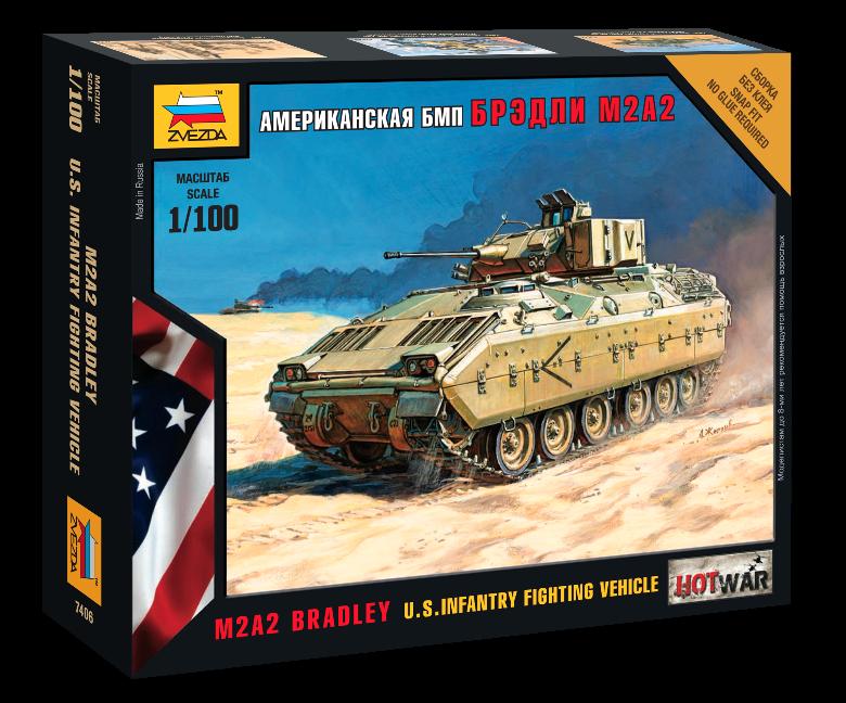 Модель сборная - американский БМП Брэдли М2А2Модели танков для склеивания<br>Модель сборная - американский БМП Брэдли М2А2<br>