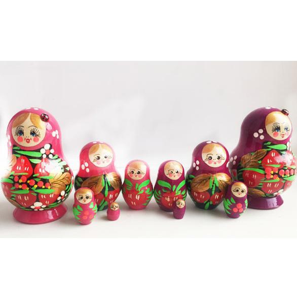 Матрешка малая 5 кукольная – Клубничка, 9 см.Матрешка<br>Матрешка малая 5 кукольная – Клубничка, 9 см.<br>