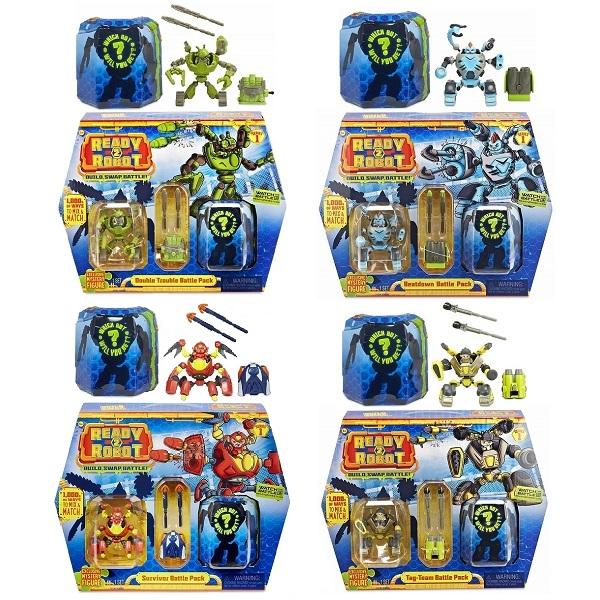 Купить Игрушка из серии Ready2Robot - Две капсулы и оружие, 4 вида, MGA Entertainment