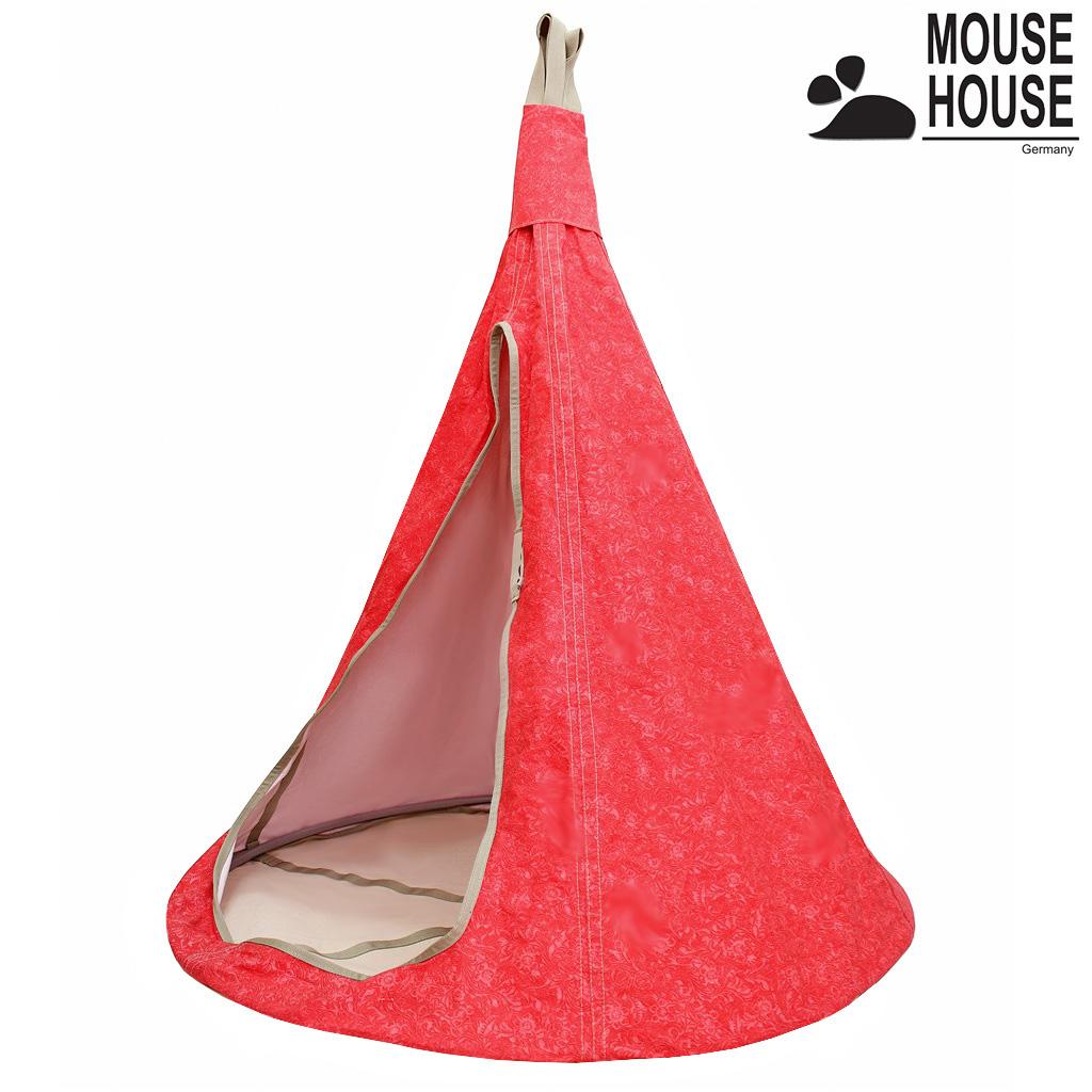 140-10 Гамак Mouse House - Цветы красные, диаметр 140 смДомики-палатки<br>140-10 Гамак Mouse House - Цветы красные, диаметр 140 см<br>