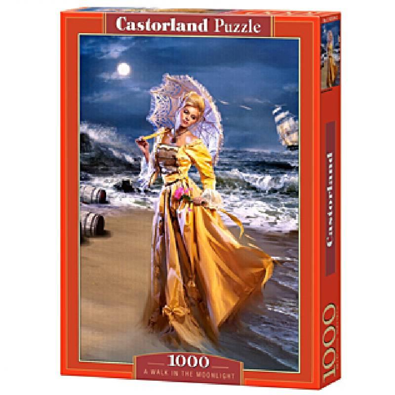 Пазл Castorland 1000 деталей, Прогулка при лунеПазлы 1000 элементов<br>Пазл Castorland 1000 деталей, Прогулка при луне<br>
