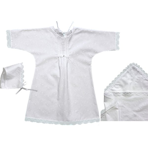 Крестильный набор для девочки, 3 предметаОдежда для детей<br>Крестильный набор для девочки, 3 предмета<br>