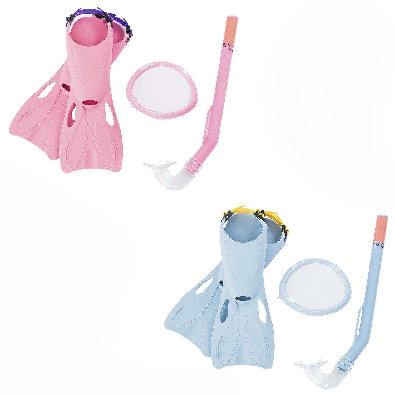 Купить Набор для ныряния - Флаппер с маской, трубкой и ластами, от 3 лет, 2 цвета, Bestway