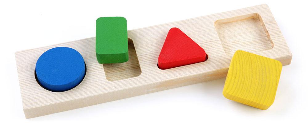 Доска-вкладыш – Геометрия, малаяРамки и паззлы<br>Доска-вкладыш – Геометрия, малая<br>