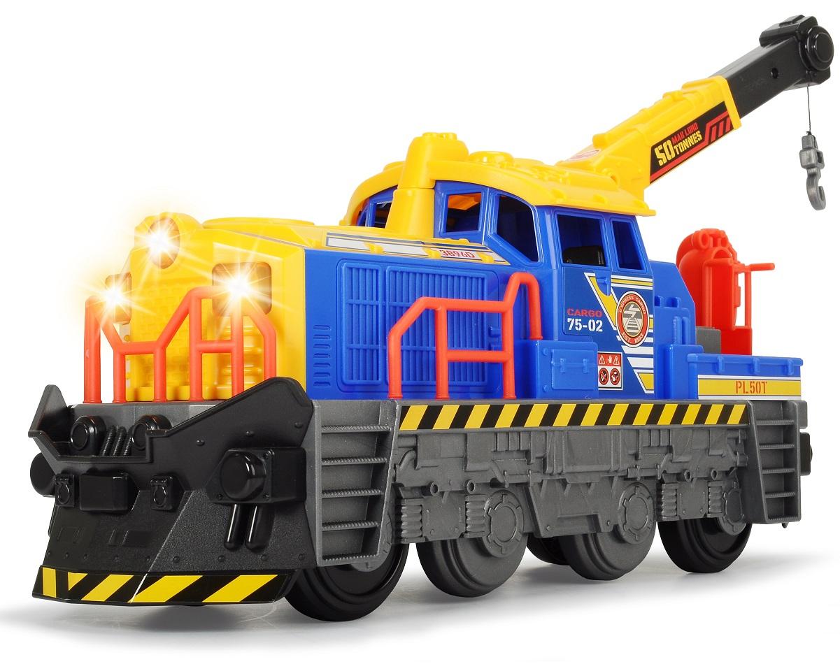 Локомотив Dickie со светом и звуком, свободный ход, 33 см.Детская железная дорога<br>Локомотив Dickie со светом и звуком, свободный ход, 33 см.<br>