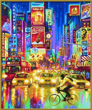Нью-Йорк, 50х60 см - Раскраски по номерам Schipper, артикул: 9200