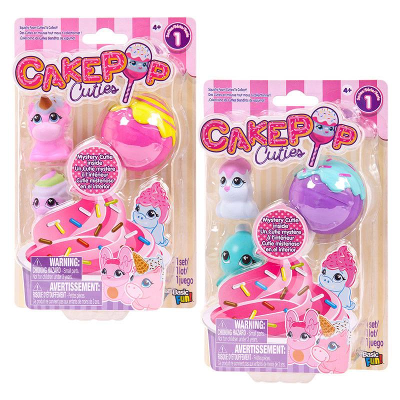 Купить Набор игрушек Cake Pop Cuties, 1 серия, 2 вида, 3 штуки в наборе, Basic Fun