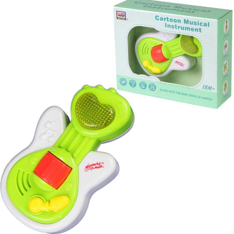 Музыкальная игрушка для малышей  Гитара, свет и звук - Гитары, артикул: 166355