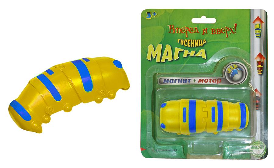 Гусеница Магна, магнитная, желтая