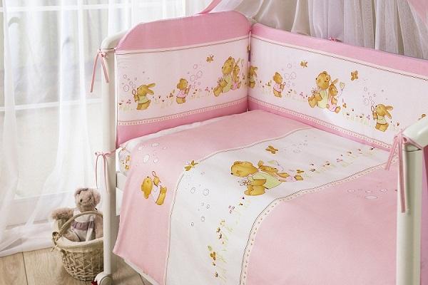 Комплект постельного белья - Фея, розовыйДетское постельное белье<br>Комплект постельного белья - Фея, розовый<br>