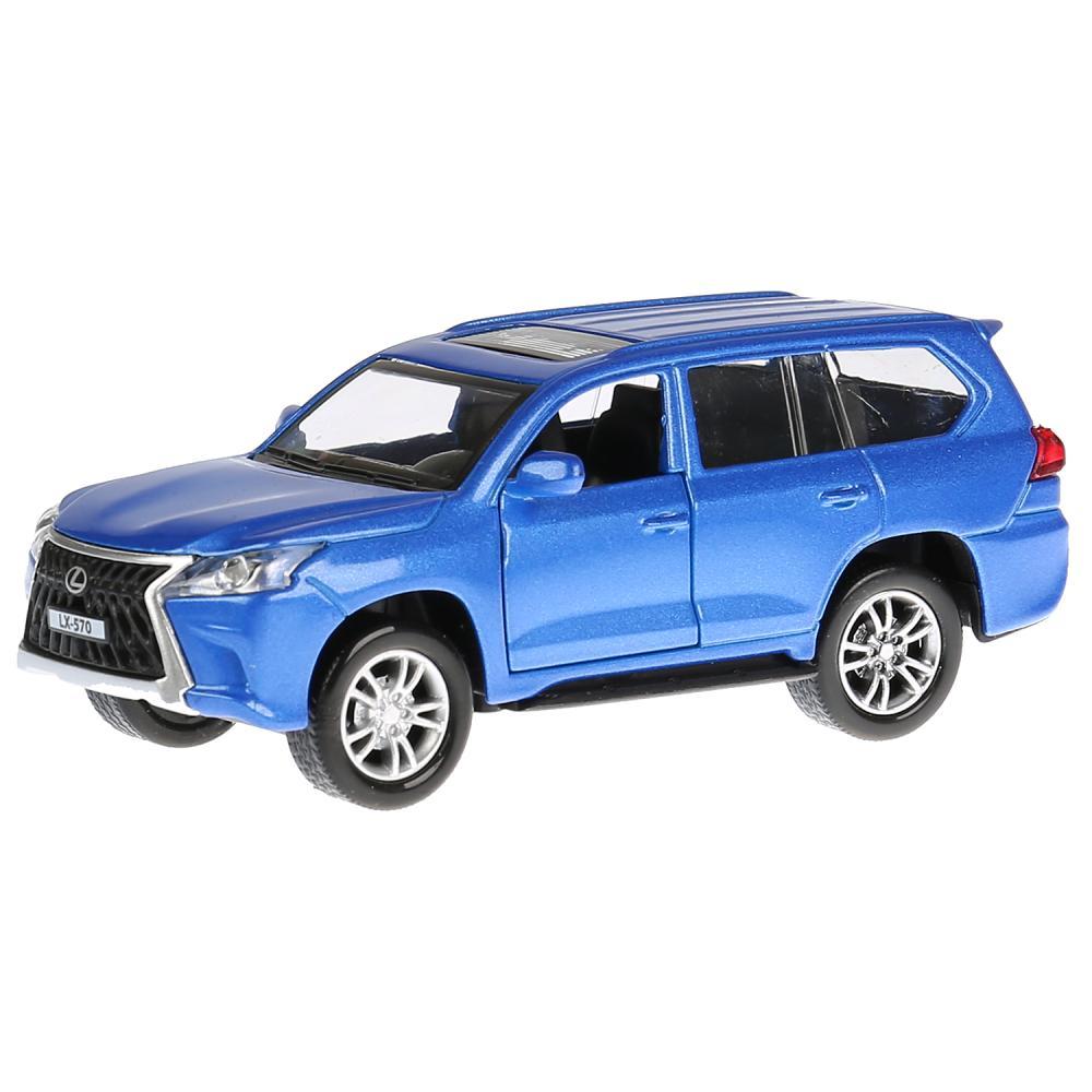 Металлическая инерционная модель – Lexus LX-570, 12 см, открываются двери, синий, свет и звук, Технопарк  - купить со скидкой