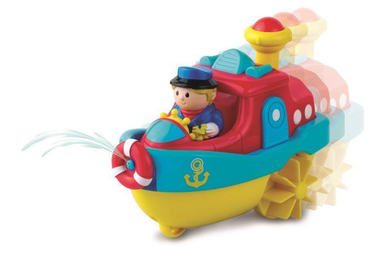 Заводная игрушка для купания Водный транспорт - Пароход