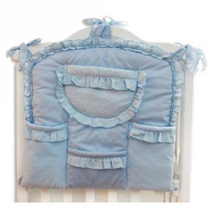 Карман на кроватку Малышка, цвет – голубойДекор и хранение<br>Карман на кроватку Малышка, цвет – голубой<br>