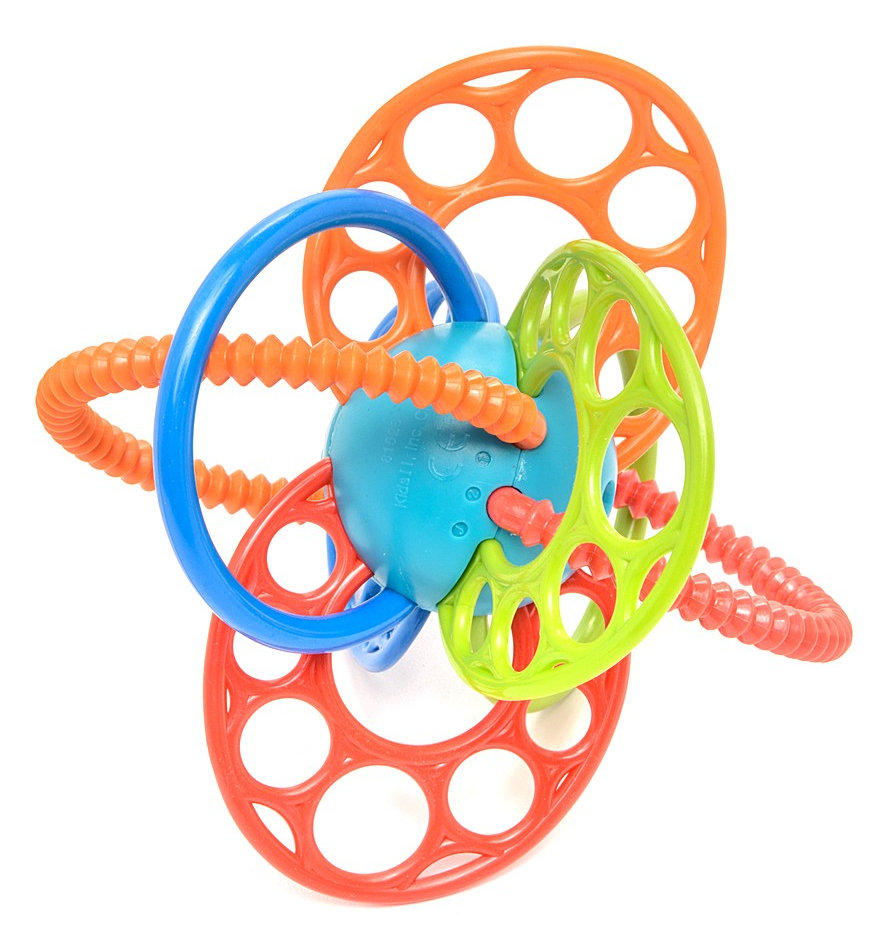 Развивающая игрушка - Яркие петелькиДетские погремушки и подвесные игрушки на кроватку<br>Развивающая игрушка - Яркие петельки<br>
