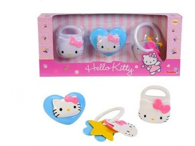 Набор погремушек Hello KittyДетские погремушки и подвесные игрушки на кроватку<br>Набор погремушек Hello Kitty<br>