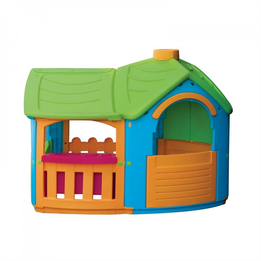 Детский пластиковый домик PalPlay - Вилла с пристройкой фото
