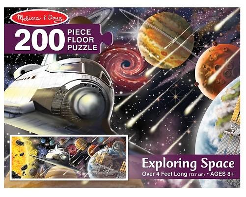 Напольный пазл – Космос, 200 деталейКоврики-пазлы<br>Напольный пазл – Космос, 200 деталей<br>
