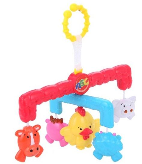 Подвеска с фигурками животныхРазвивающая дуга. Игрушки на коляску и кроватку<br>Подвеска с фигурками животных<br>