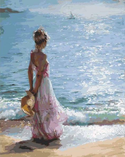Купить Раскраски по номерам - картина «Утренняя прогулка», 40 х 50 см., Белоснежка