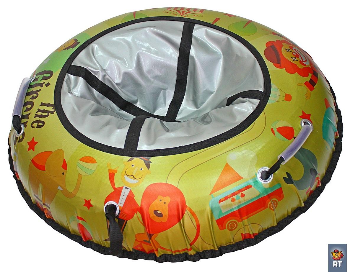 Санки надувные Тюбинг Цирк, диаметр 105 см.Ватрушки и ледянки<br>Санки надувные Тюбинг Цирк, диаметр 105 см.<br>