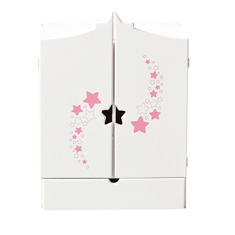 Шкаф для кукол - Звездочка, цвет белый