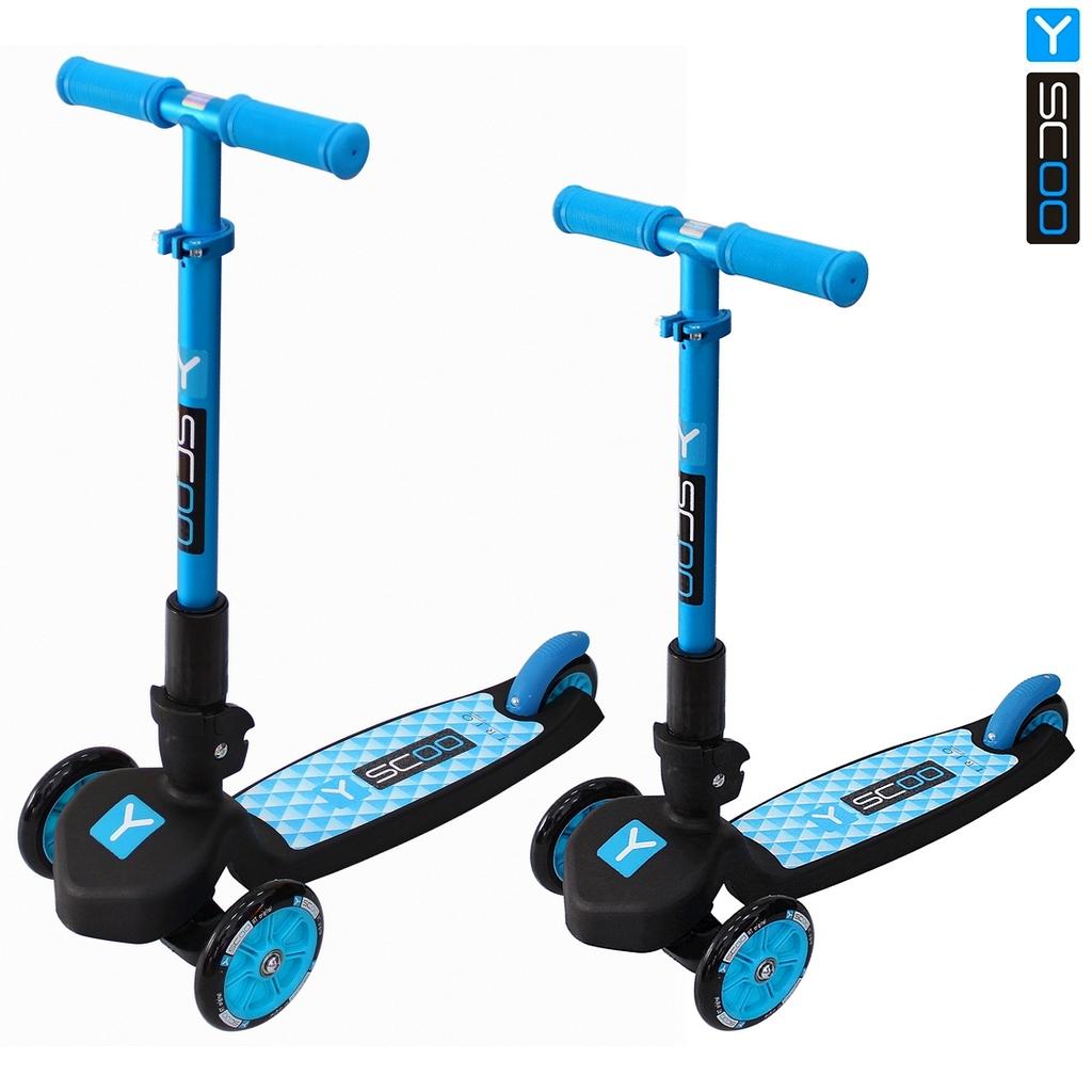 Купить Самокат трехколесный Y-Scoo Trio Maxi 120 blue, цвет – голубой, Y-Scoo