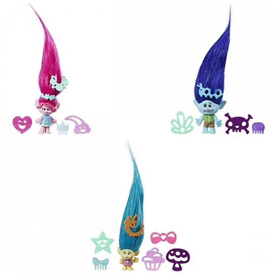 Игровой набор из серии Тролли с фигуркой с супердлинными поднимающимися волосами, несколько видовТролли игрушки<br>Игровой набор из серии Тролли с фигуркой с супердлинными поднимающимися волосами, несколько видов<br>