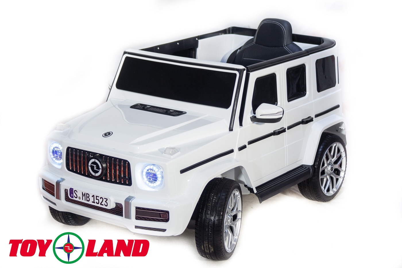 Купить Электромобиль Джип Mercedes Benz G63 mini YEH1523, белый, ToyLand