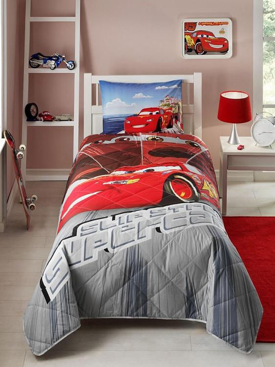 Детское покрывало, 1,5 спальное  Cars Face MovieДетские покрывала и пледы<br>Детское покрывало, 1,5 спальное  Cars Face Movie<br>