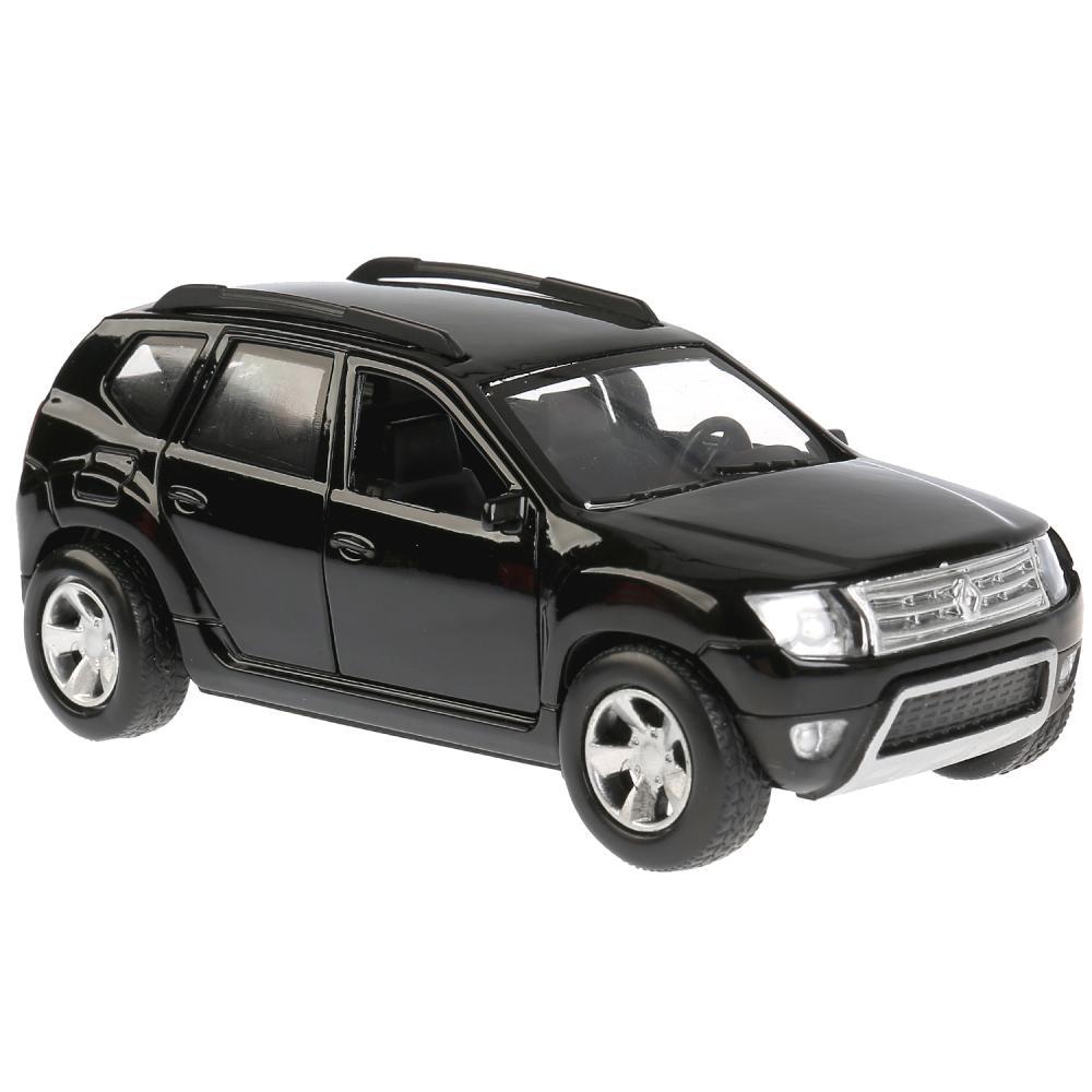 Купить Машина металлическая Renault Duster 12 см, открываются двери, инерционная, цвет - черный, Технопарк