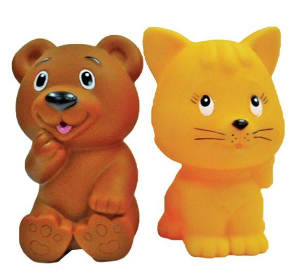 Игрушки для ванной – Кот, мишкаРезиновые игрушки<br>Игрушки для ванной – Кот, мишка<br>