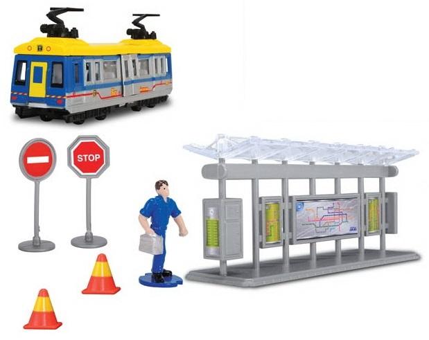 Трамвайная остановка: трамвай и аксессуарыАвтобусы, трамваи<br>Трамвайная остановка: трамвай и аксессуары<br>