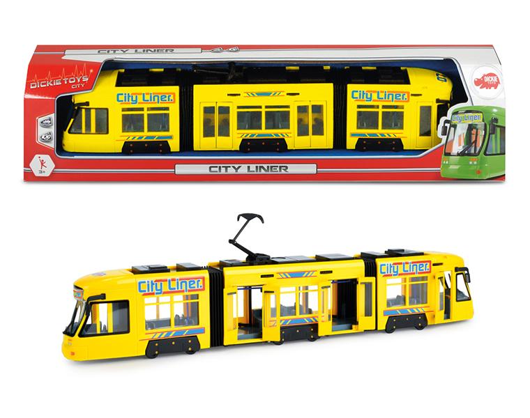 Городской трамвай, 46 см., желтый