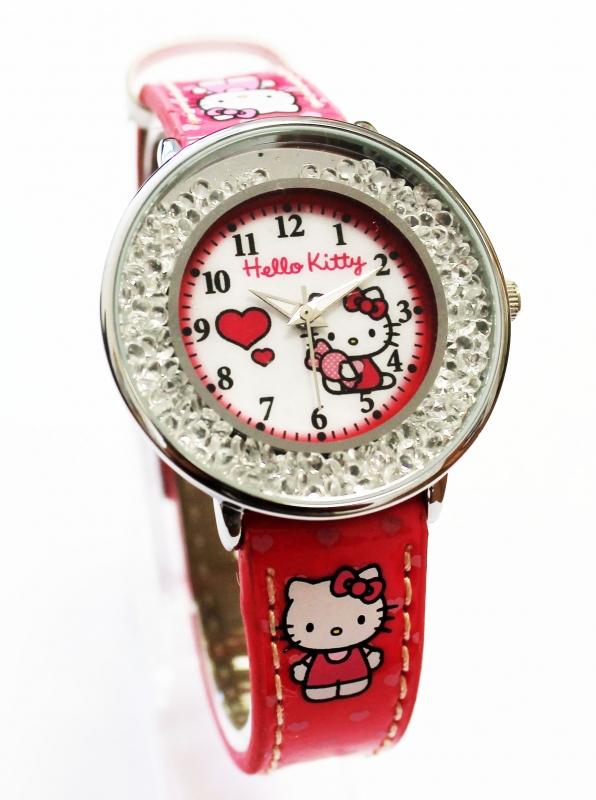 Часы наручные аналоговые Hello Kitty красныеДетские часы<br>Часы наручные аналоговые Hello Kitty красные<br>