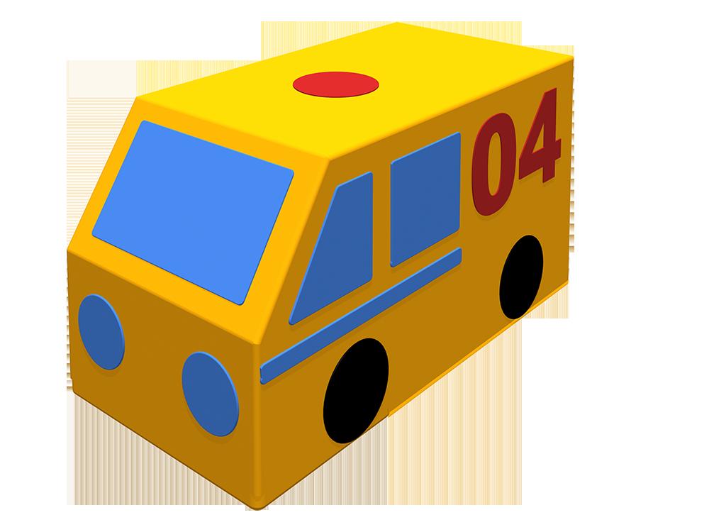 Мягкая контурная игрушка - Фургон Газовая служба