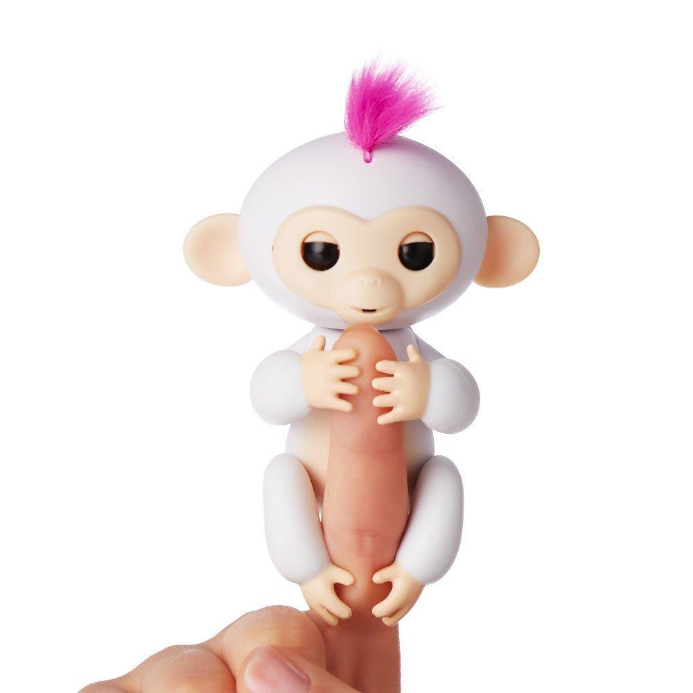 Купить Интерактивная ручная обезьянка Fingerlings WowWee – София, белая, 12 см.
