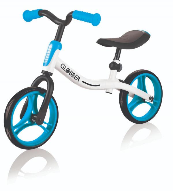 Купить Беговел Go Bike, цвет Бело-голубой, Globber