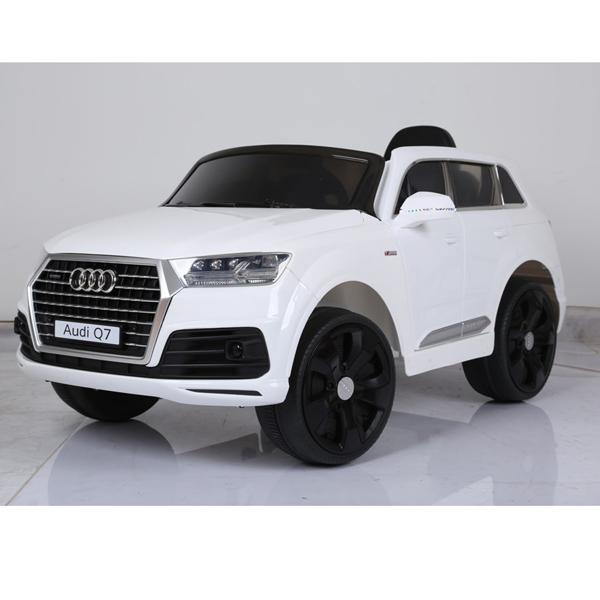 Электромобиль - Джип Audi, белый, свет и звукЭлектромобили, детские машины на аккумуляторе<br>Электромобиль - Джип Audi, белый, свет и звук<br>