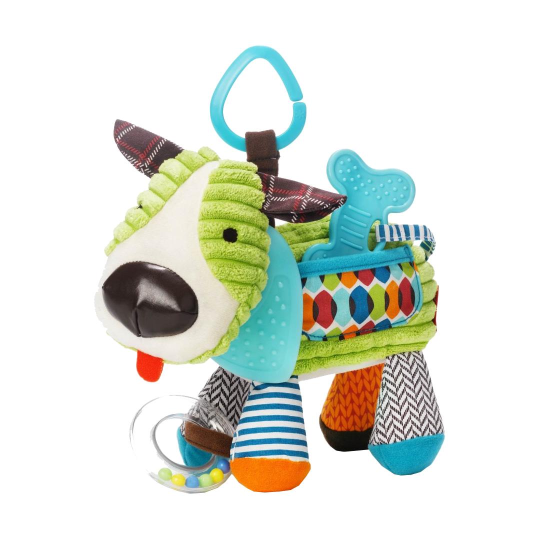 Развивающая игрушка-подвеска Щенок с погремушкой и прорезывателемДетские погремушки и подвесные игрушки на кроватку<br>Развивающая игрушка-подвеска Щенок с погремушкой и прорезывателем<br>