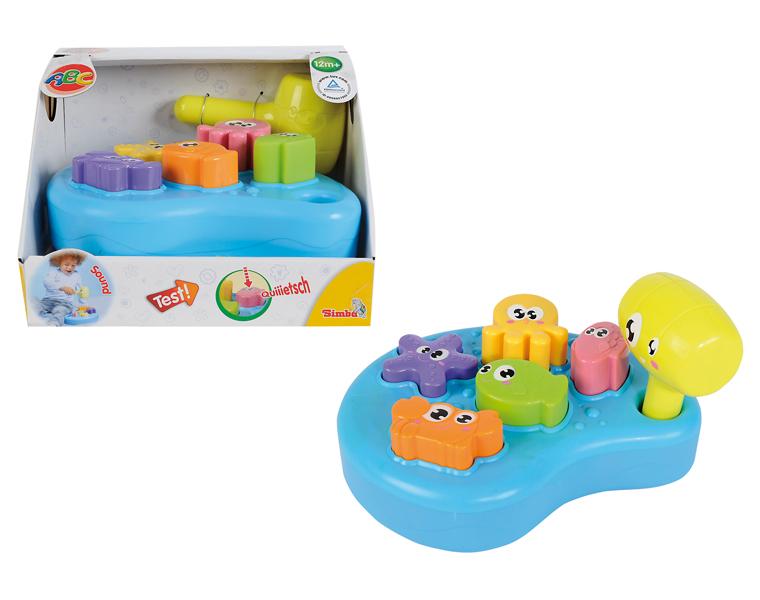 Игровая платформа с молоточком, звукРазвивающие игрушки Simba Baby<br>Игровая платформа с молоточком, звук<br>