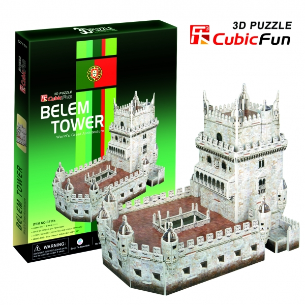3D puzzles. Пазлы объёмные. Башня БеленПазлы объёмные 3D<br>3D puzzles. Пазлы объёмные. Башня Белен<br>
