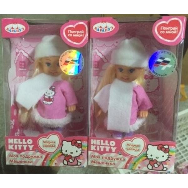Купить Кукла из серии Hello Kitty - Машенька 12 см., в зимней одежде, Карапуз