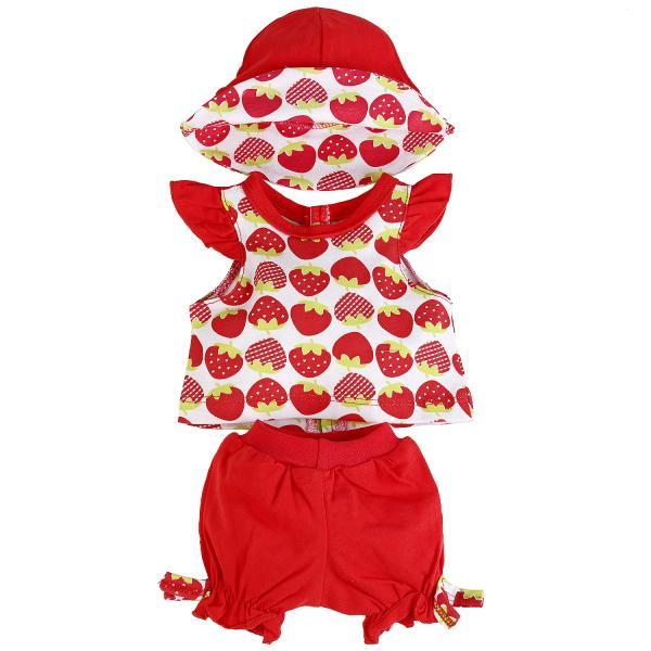 Одежда для кукол ростом 40-42 см. - Костюм: футболка и шорты с панамой, в пакетеОдежда для кукол<br>Одежда для кукол ростом 40-42 см. - Костюм: футболка и шорты с панамой, в пакете<br>
