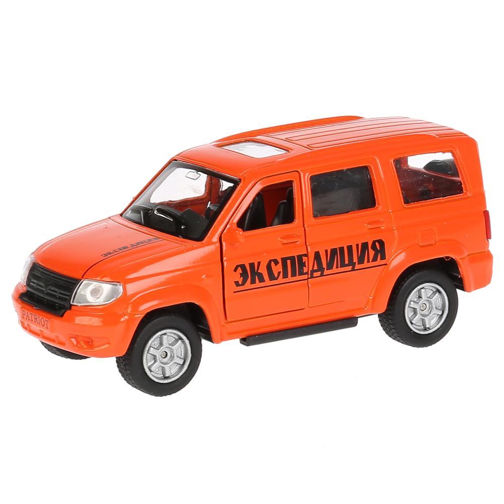 Купить Машина инерционная металлическая УАЗ Patriot – Экспедиционная, 12 см, открываются двери и багажник, Технопарк