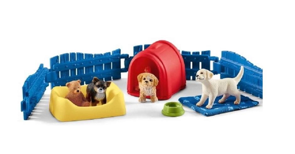 Купить Игровой набор - Манеж для щенков, Schleich