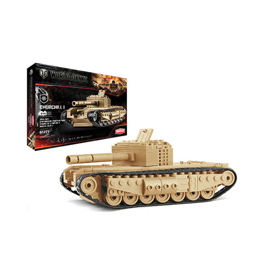 Конструктор из серии World Of Tanks - танк Churchill I, 218 деталейКонструкторы других производителей<br>Конструктор из серии World Of Tanks - танк Churchill I, 218 деталей<br>