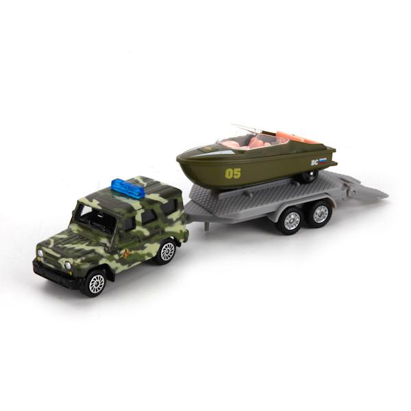 Вооруженные силы. УАЗ с лодкой на прицепеВоенная техника<br>Вооруженные силы. УАЗ с лодкой на прицепе<br>