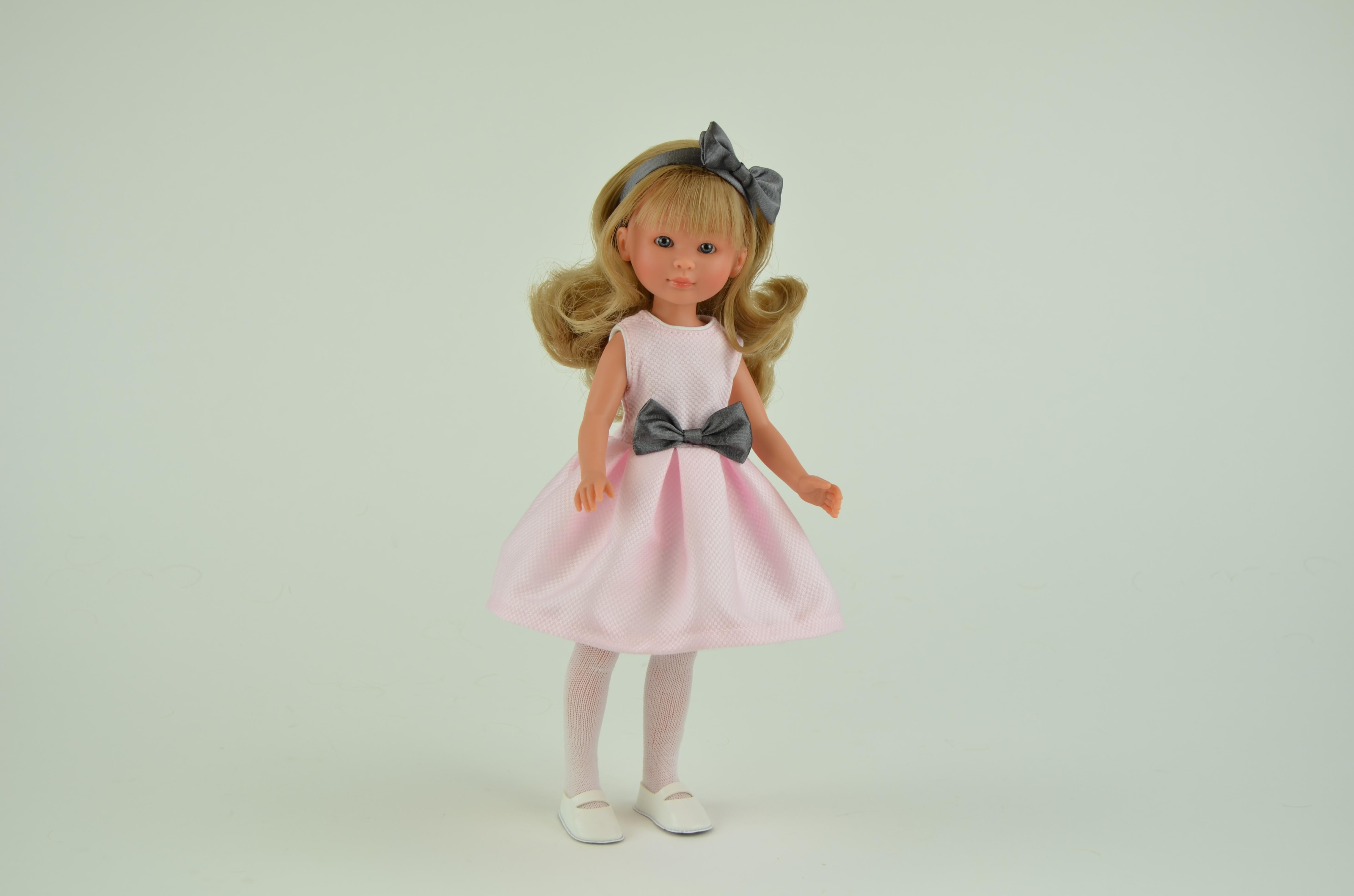 Кукла Селия в розовом платье, 30 см.Куклы ASI (Испания)<br>Кукла Селия в розовом платье, 30 см.<br>